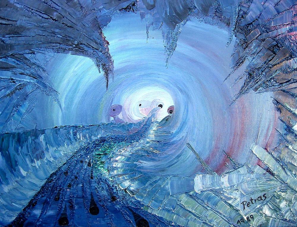 Fluchtweg (blau)